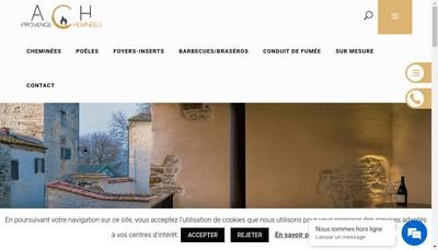 Site internet de Provence Cheminees