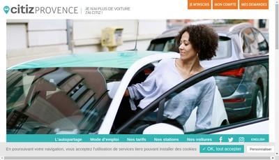 Site internet de Autopartage Provence