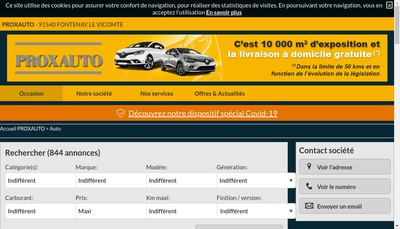 Site internet de Prox Auto