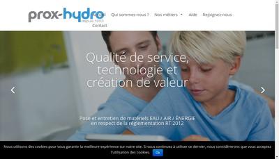 Site internet de Prox-Hydro