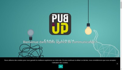 Site internet de Pub Up
