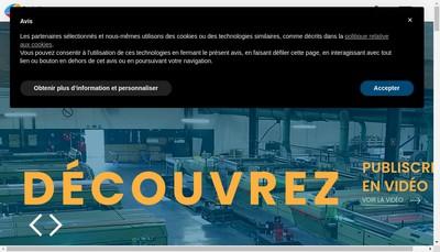 Site internet de Publi Screen