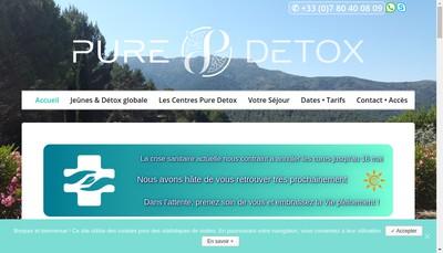Site internet de Pure Detox