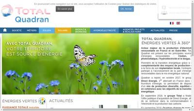Site internet de Total Quadran