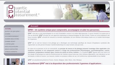 Site internet de Quantic Potential Measurement