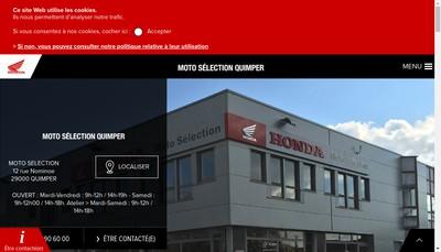 Site internet de Moto Selection