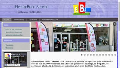 Site internet de Electro Brico-Service