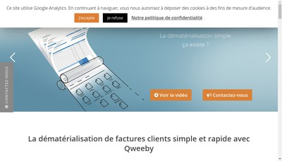 Site internet de Qweeby