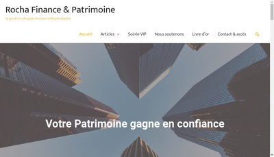 Site internet de Rocha Finance et Patrimoine