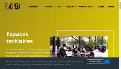 Site internet de Racinea Buroc Agebois Fabur