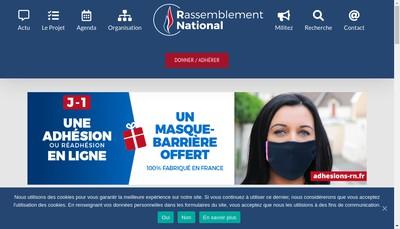 Site internet de Rassemblement National
