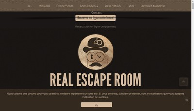 Site internet de Real Escape Room