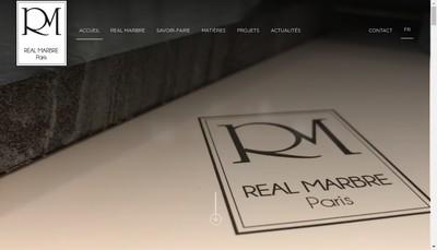 Site internet de SAS Real Marbre
