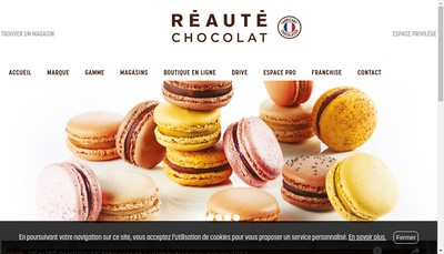 Site internet de Reaute Chocolat