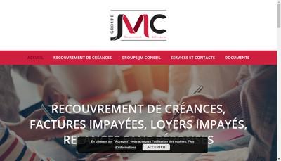 Site internet de Groupe Jmc Groupe Jm Conseil