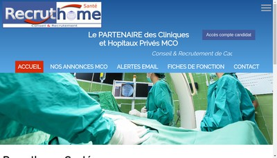 Site internet de Vacathome Medical
