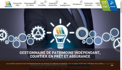 Site internet de Refinao