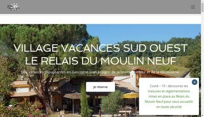 Site internet de Relais du Moulin Neuf