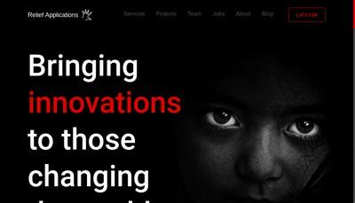 Site internet de Relief Applications