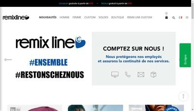 Site internet de Remix Line