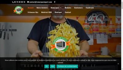 Site internet de Remorque Import Mag