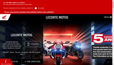 Site internet de Leconte Motos