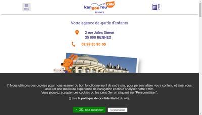 Site internet de Kangourou Kids