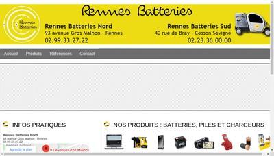 Site internet de Rennes Batteries