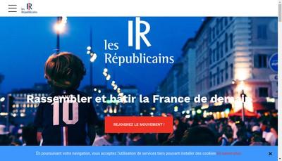 Site internet de Les Republicains