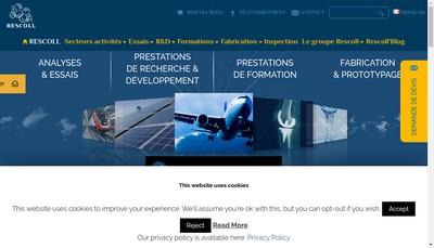 Site internet de Rescoll Manufacturing