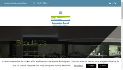 Site internet de Restauration Conseil