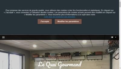 Site internet de Le Quai Gourmand