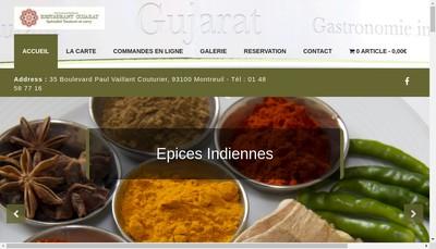 Site internet de Restaurant Gujarat