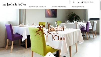 Site internet de Au Jardin de la Clue