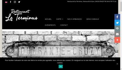 Site internet de Le Terminus