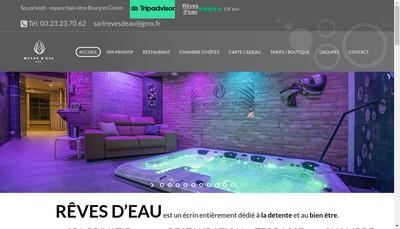 Site internet de SARL Reves d'Eau