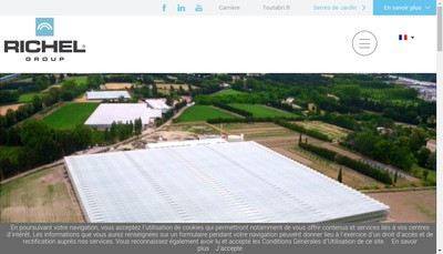 Site internet de Richel Serres de France