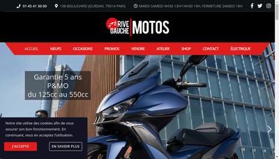 Site internet de Rive Gauche Motos