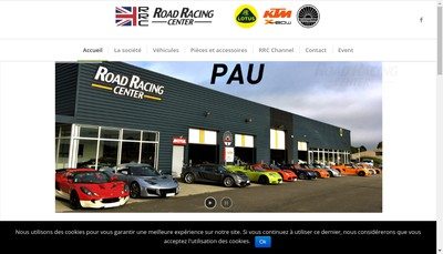 Site internet de Road Racing Center