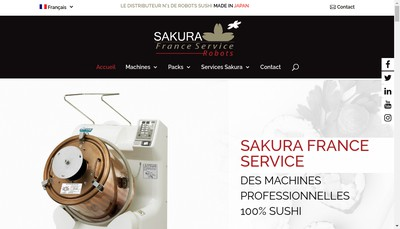 Site internet de Sakura France Service