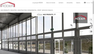 Site internet de Roder France Structures