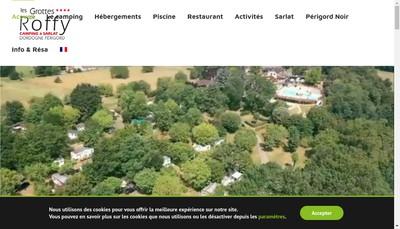 Site internet de Camping des Grottes de Roffy