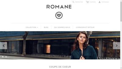 Site internet de Romane