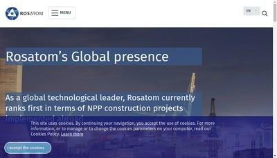 Site internet de Rosatom Western Europe