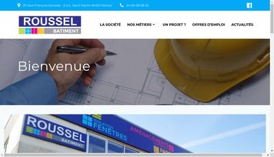 Site internet de Roussel Batiment