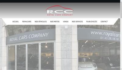Site internet de Royal Cars Company