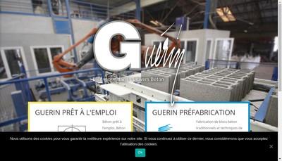Site internet de Guerin Beton