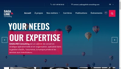 Site internet de Sagalink Consulting