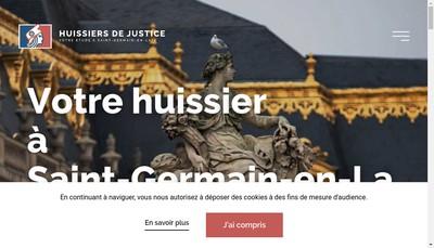 Site internet de SCP Xavier Blanc Maximilien Grassin Huissiers de Justice Associes