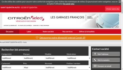 Site internet de Les Garages Francois